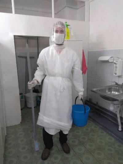 Пинский актёр Сергей Волков пошёл работать санитаром в больницу