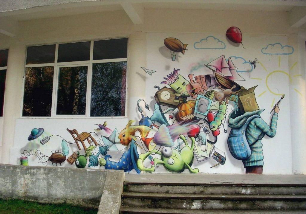 У пинского уличного художника Мutusа в планах поработать в родном городе