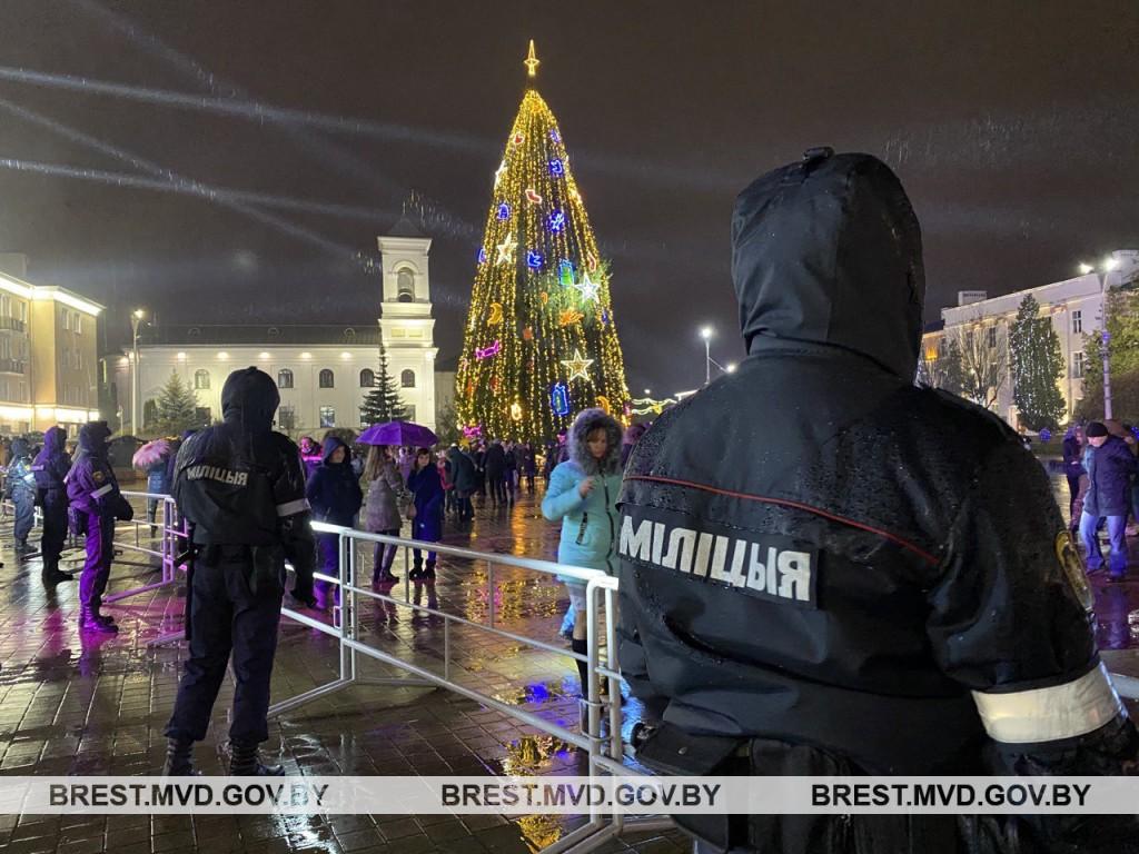 Новый год на Брестчину пришел без происшествий