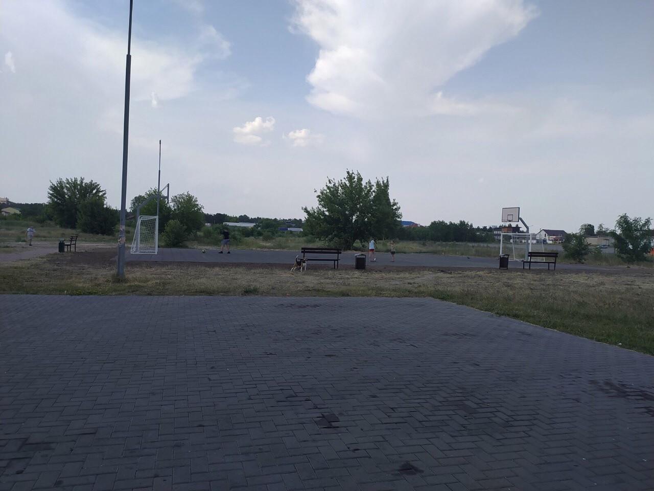 Новая спортплощадка готова в Загорском микрорайоне (фото)